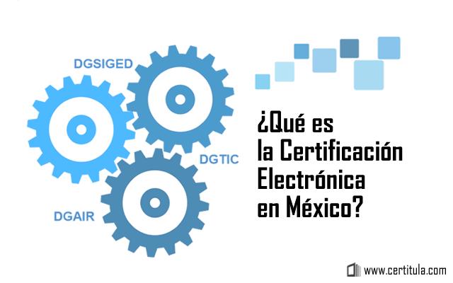 certificación electrónica