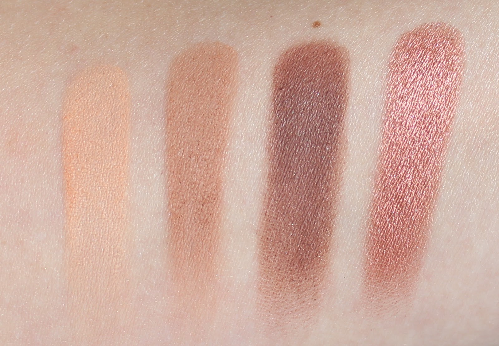 Makeup Geek Eye Shadow Quad Swatches - Warm Tones