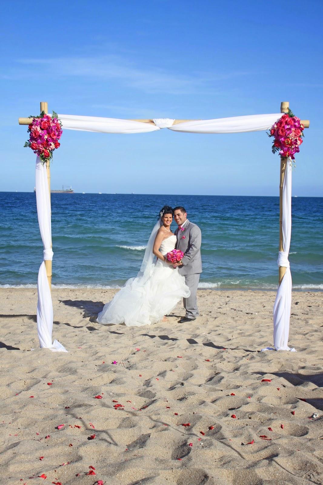 Affordable Beach Weddings 3057934387 GINETTE  HUBERTO  FT LAUDERDALE BEACH WEDDING