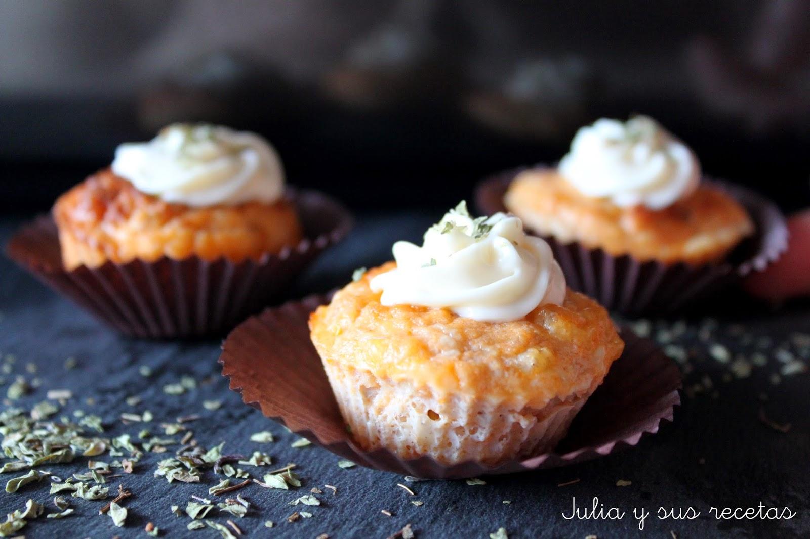 Muffins de atún y tomate. Julia y sus recetas