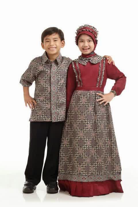 36 Model Baju Batik Muslim Anak Terbaru 2019 Model Baju Muslim