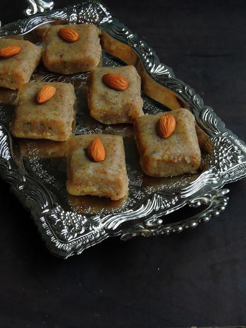 Mixed nuts barfi, Mewa Burfi