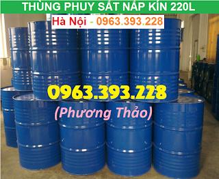 Bán Thùng phuy sắt nắp kín 220L đã qua sử dụng tại Hà Nội