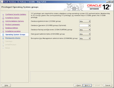 Administrative Privileges and Job Role Separation in Oracle Database 12c Release 1 (12.1)
