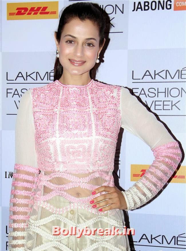 Ameesha Patel, Bollywood Actresses at Manish Malhotra Show at LFW Summer Resort 2014
