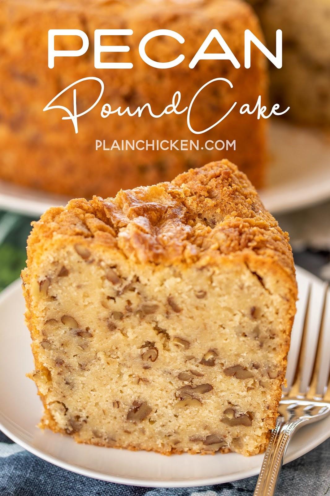 pound cake slice on a plate