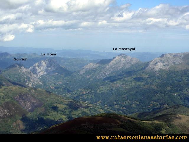 Ruta Lindes - Peña Rueda - Foix Grande: Vista del Pico Gorrión, Hoya y Mostayal