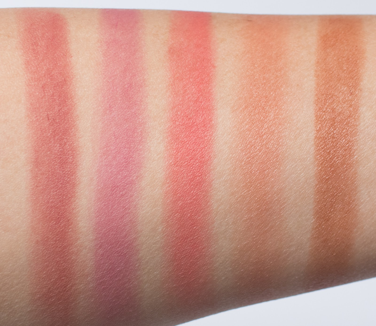 Colourpop Blotted Lip vs Glossier Generation G Lipstick Comparison Arm Swatches