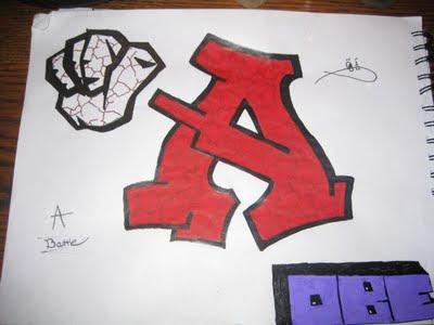 Letter A in Graffiti