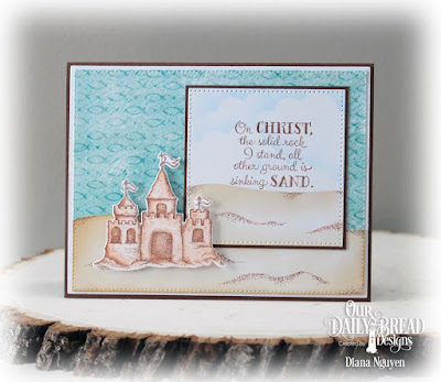 Our Daily Bread Designs Paper Collection: By the Shore,  Our Daily Bread Designs Stamp Set: Sending You Sunshine, Our Daily Bread Designs Custom Die: Sandcastle