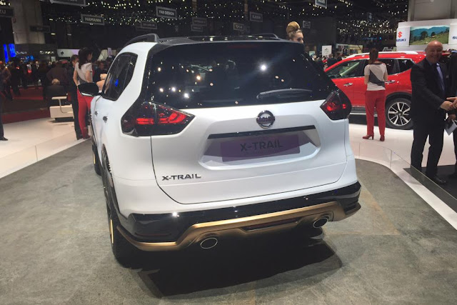 2017 Nissan Qashqai facelift debut Geneva back view contest