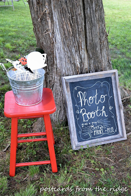 How to create a fun photo booth for your next party. Everyone loves this!