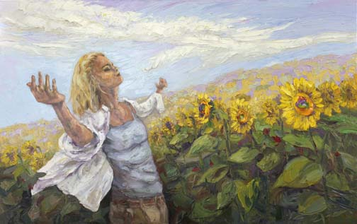 Image result for contentment painting