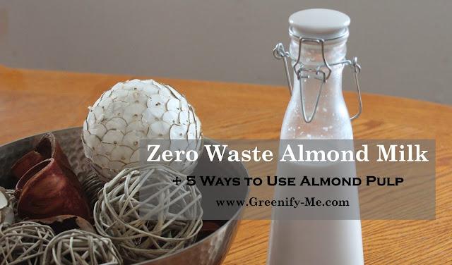 zero waste almond milk