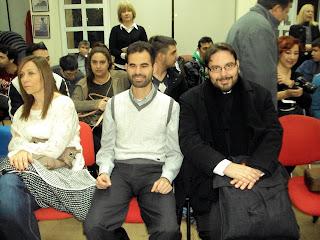 Ο Βαγγέλης Αυγουλάς και ο Πατήρ Δημήτριος Ζαχαρόπουλος
