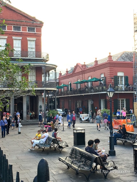 48 No Interstate back roads cross country coast-to-coast road trip Jackson Square New Orleans Louisiana