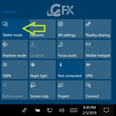 Enable Tablet Mode in Windows 10 - www.ceofix.net