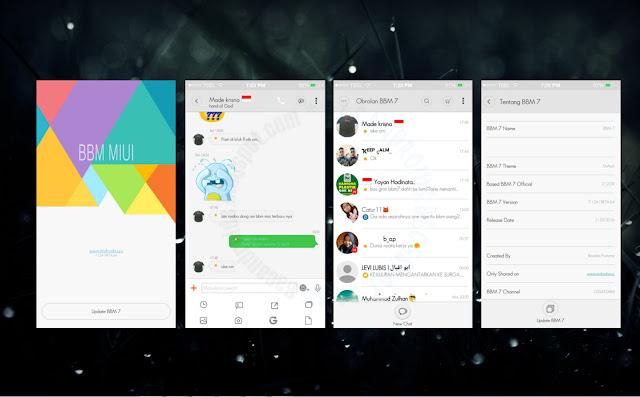 download BBM Mod Thema MIUI 7 Style Terbaru
