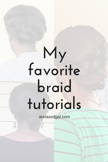 Hair tutorials: I love braids for a quick and easy hairstyle. Braids and can easily be dressed up or down. Here are my top braid tutorials. | arelaxedgal.com