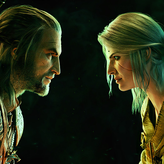 Gwent: Geralt & Ciri Wallpaper Engine