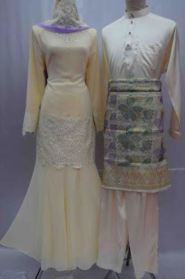 Camellia-Baju Kurung Moden NIkah Koleksi Baju  Pengantin Baru 2016  Sedondon