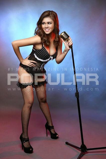 Model Nadine Iskandar di Majalah Popular Maret 2015