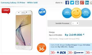 Samsung Galaxy J5 Prime Smartphone Android Harga Rp 2 Jutaan