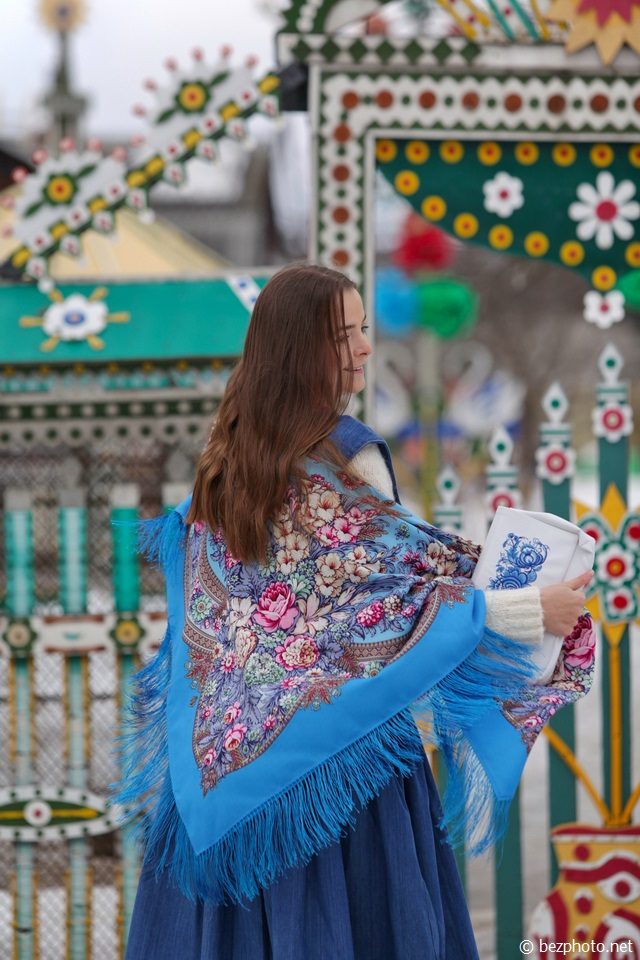 павлопосадские платки как носить фото