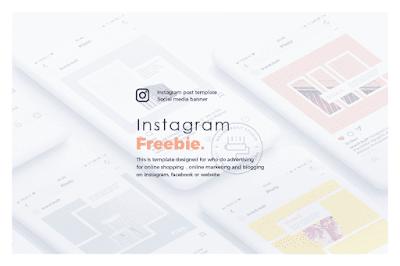 Paket abnormal instagram keren untuk kau Freebie Abstract Instagram Layout