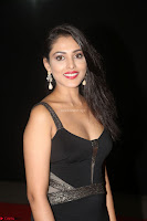 Madhu Shalini in a Glamorous Deep neck Black Sleeveless Dress at Mirchi Music Awards South 2017 ~  Exclusive Celebrities Galleries 005.JPG