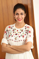 Lavanya Tripathi in Summer Style Spicy Short White Dress at her Interview  Exclusive 227.JPG