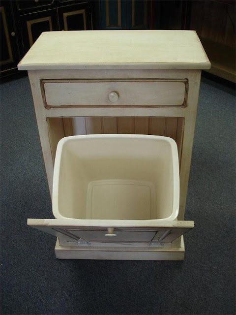 decorative wood trash cans for kitchen