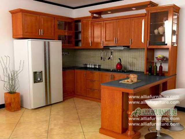 kitchen set jati klasik meja bar borneo