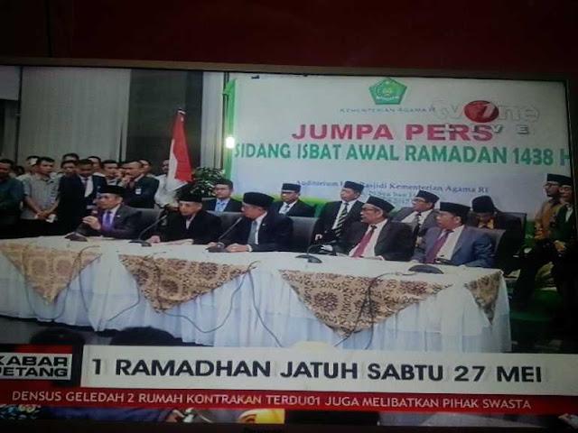 6 Saksi Lihat Hilal, Menag Tetapkan Besok Idul Fitri