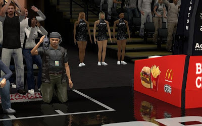 NBA 2K13 San Antonio Spurs Court Sideline Characters Fix