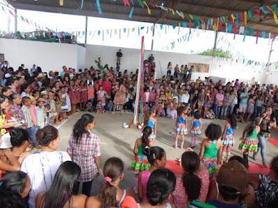 Festa de encerramento anima escolas do povoado de Umbuzeiro, município de Mundo Novo