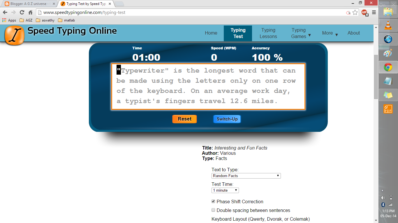 A G Z universe: How fast can you type? Find out with Speed ...