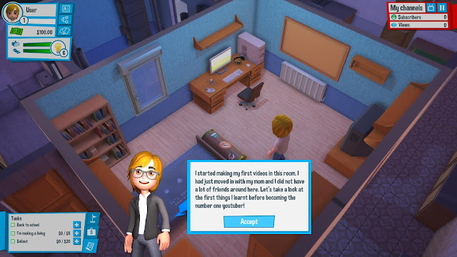 Youtubers Life Full Version Free Screenshot 1
