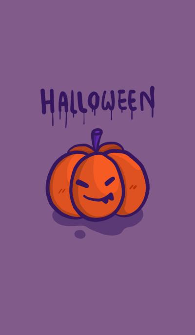 Dark purple Halloween Doodle theme