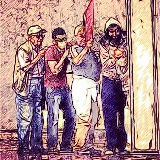 Gezi Parkı Eylemleri sırasında sembolleşen karelerin çizim halleri