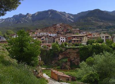 beceite, vista pueblo desde casa Escalet