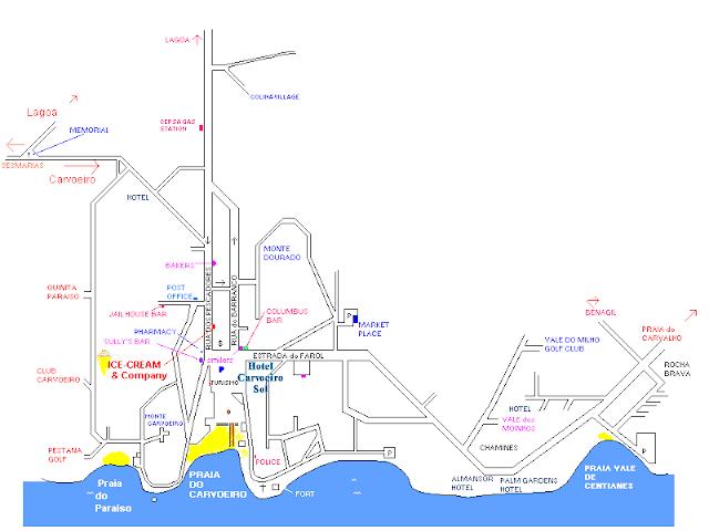 Mapa de Carvoeiro – Portugal