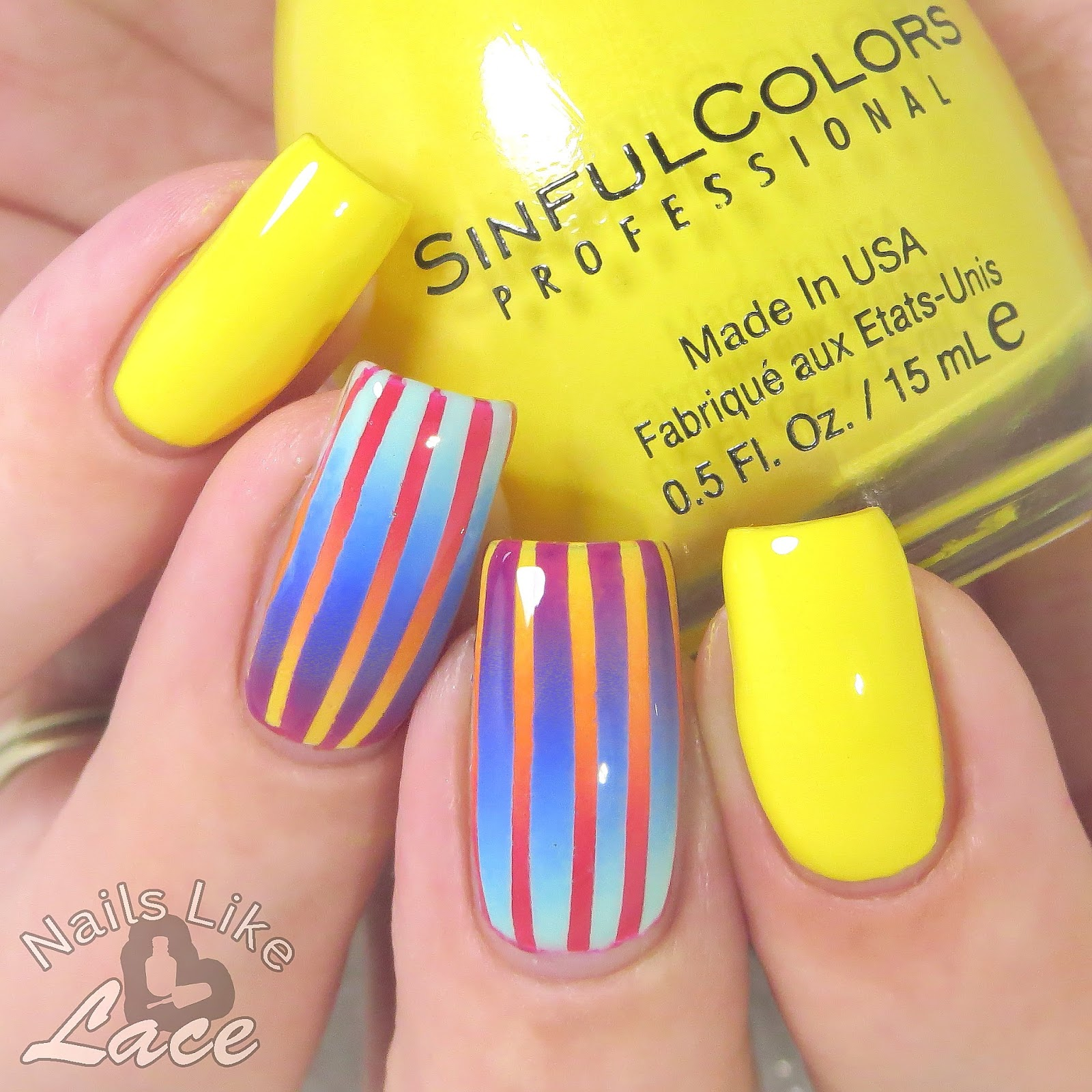 Neon Yellow Nail Polish Sinful Colors - Creative Touch