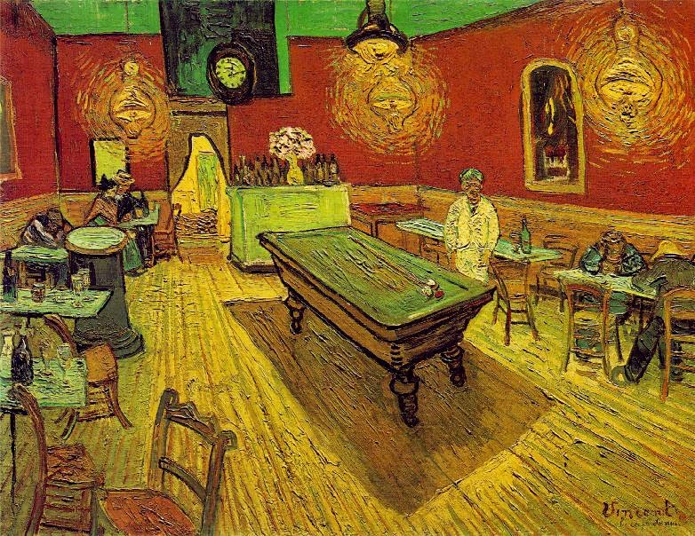 Image result for van gogh night cafe