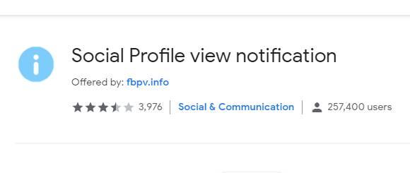Social Profile View Chrome Extension