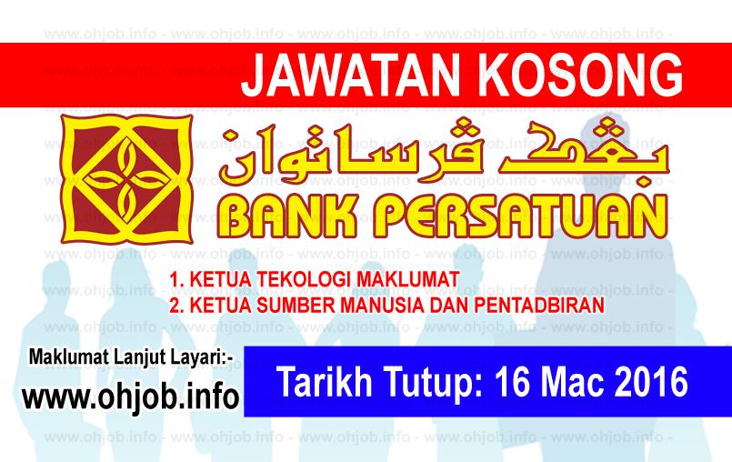 Jawatan Kerja Kosong Koperasi Bank Persatuan Malaysia Berhad logo www.ohjob.info mac 2016