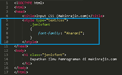 kode program CSS