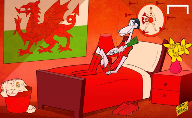 Gareth Bale Wales cartoon