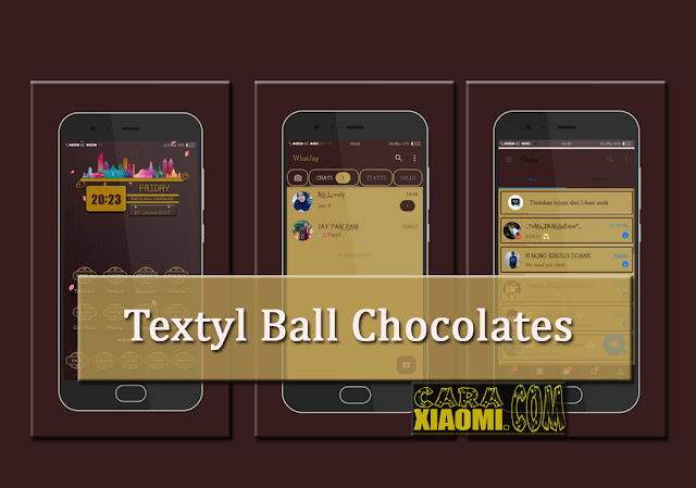 Theme MIUI Textyl Ball Chocolate Mtz Fix For Xiaomi
