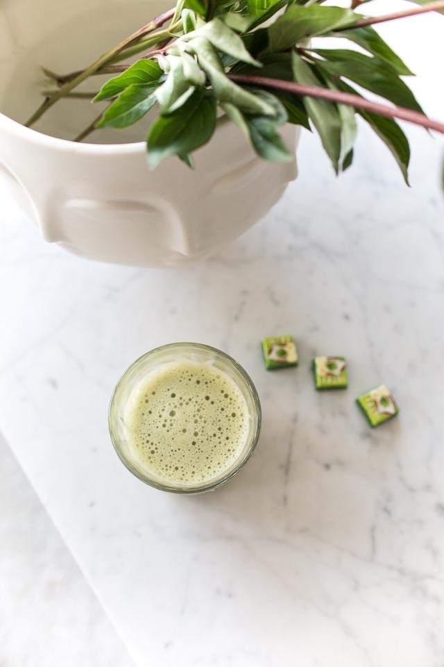 vihreä tee latte, villa h